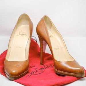 5d0545b1897 Women Christian Louboutin Stacked Heel on Poshmark